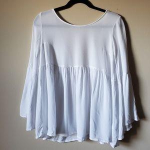 Kimchi blue Anthropology white blouse size S